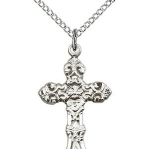 Sterling Silver Cross Necklace #87907