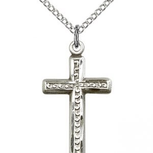 Sterling Silver Cross Necklace #87959