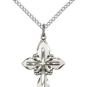 Sterling Silver Cross Necklace #88054