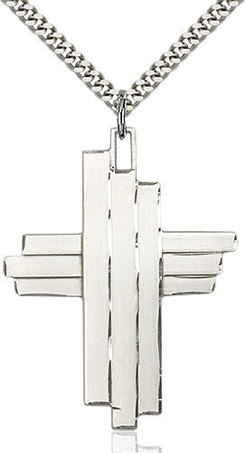 Sterling Silver Cross Necklace #88066