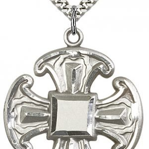 Sterling Silver Cross Necklace #88070