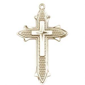 14kt Gold Cross on Cross Medal #88045