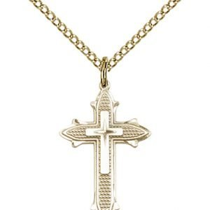 Gold Filled Cross on Cross Necklace #88039