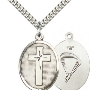 Sterling Silver Cross - Paratrooper Pendant