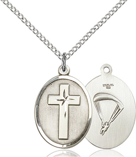 Sterling Silver Cross - Paratroopers Pendant