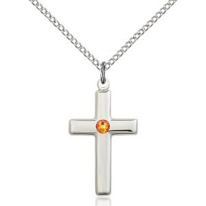 Cross Pendant - November Birthstone - Sterling Silver #88542