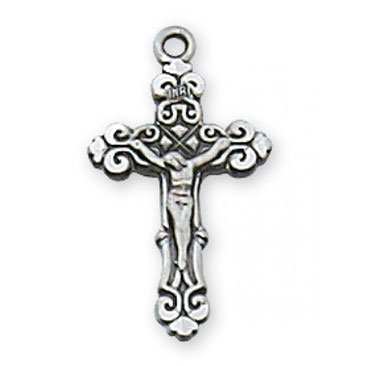Crucifix Charm - Sterling Silver