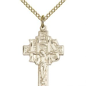 Gold Filled Crucifix-IHS Necklace #86892