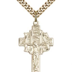 Gold Filled Crucifix-IHS Necklace #86896