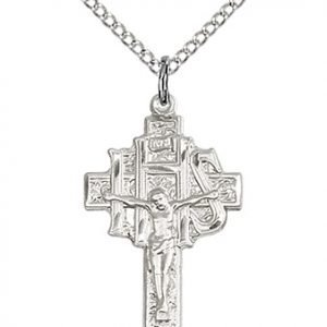 Sterling Silver Crucifix-IHS Necklace #86895