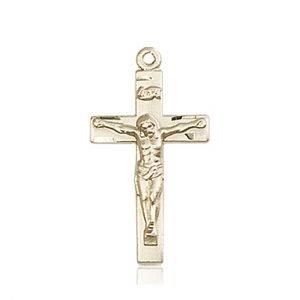 14kt Gold Crucifix Medal #86798