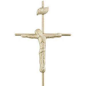 14kt Gold Crucifix Medal #86806