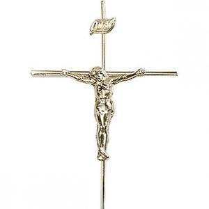 14kt Gold Crucifix Medal #86810