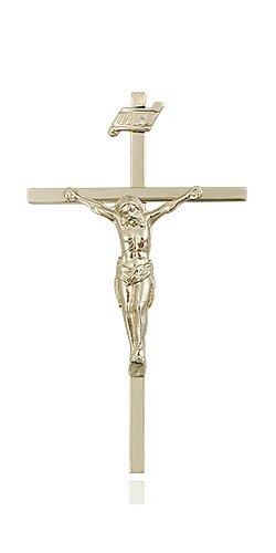 14kt Gold Crucifix Medal #86846