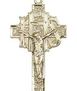 14kt Gold Crucifix Medal #86902