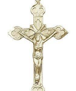 14kt Gold Crucifix Medal #87115