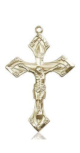 14kt Gold Crucifix Medal #87123