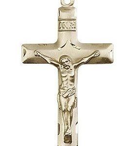 14kt Gold Crucifix Medal #87147