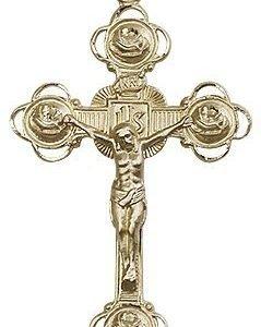 14kt Gold Crucifix Medal #87203