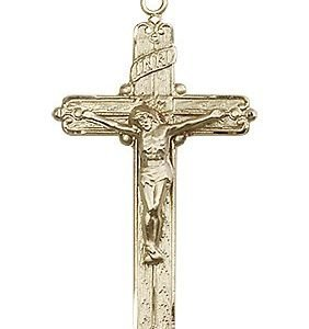 14kt Gold Crucifix Medal #87207