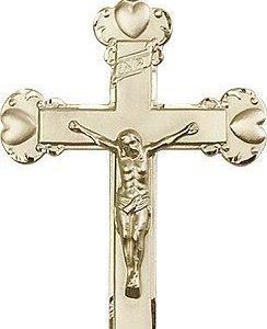 14kt Gold Crucifix Medal #87227