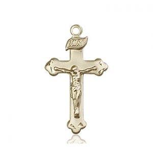 14kt Gold Crucifix Medal #87263