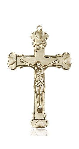 14kt Gold Crucifix Medal #87267