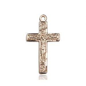 14kt Gold Crucifix Medal #87283