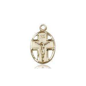 14kt Gold Crucifix Medal #87346