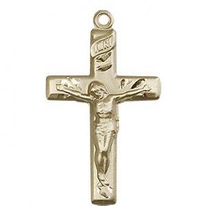14kt Gold Crucifix Medal #87446