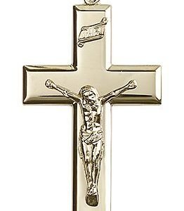 14kt Gold Crucifix Medal #87462