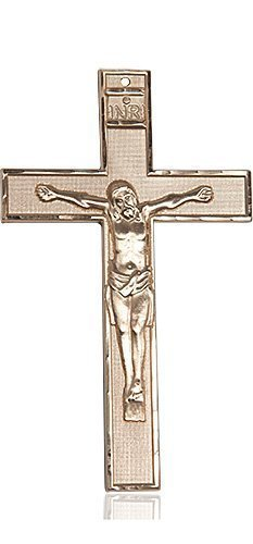 14kt Gold Crucifix Medal #87726
