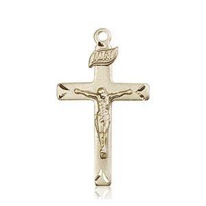 14kt Gold Crucifix Medal #87742