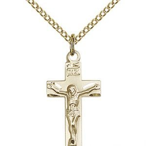 Gold Filled Crucifix Necklace #86800