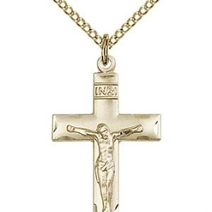 Gold Filled Crucifix Necklace #87089
