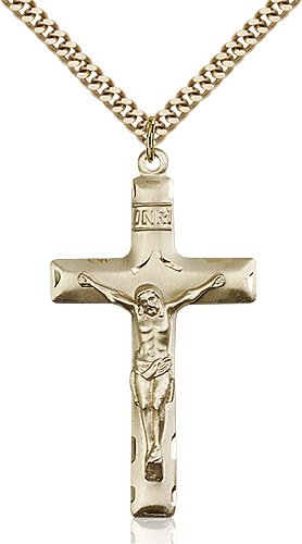 Gold Filled Crucifix Necklace #87145