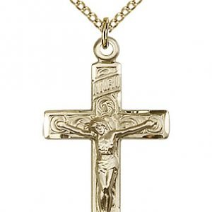 Gold Filled Crucifix Necklace #87189