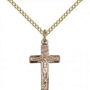 Gold Filled Crucifix Necklace #87273