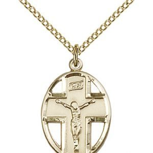 Gold Filled Crucifix Necklace #87329