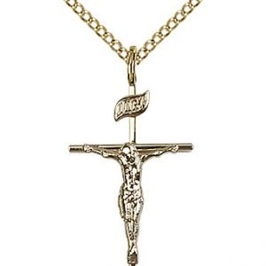Gold Filled Crucifix Necklace #87392