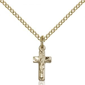 Gold Filled Crucifix Necklace #87593