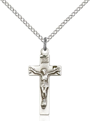 Sterling Silver Crucifix Necklace #86803