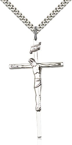 Sterling Silver Crucifix Necklace #86855