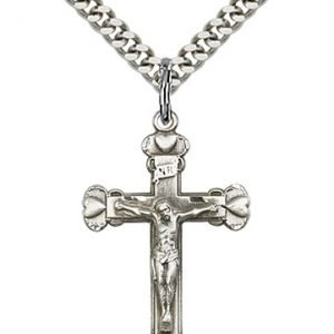 Sterling Silver Crucifix Necklace #87084