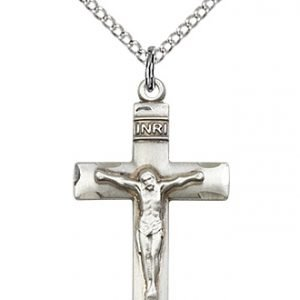 Sterling Silver Crucifix Necklace #87092