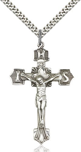 Sterling Silver Crucifix Necklace #87120