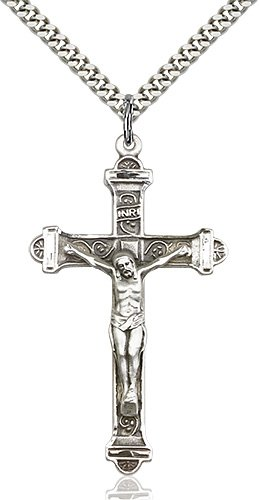 Sterling Silver Crucifix Necklace #87220