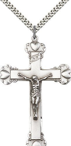 Sterling Silver Crucifix Necklace #87228