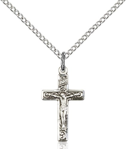 Sterling Silver Crucifix Necklace #87276