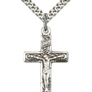 Sterling Silver Crucifix Necklace #87292